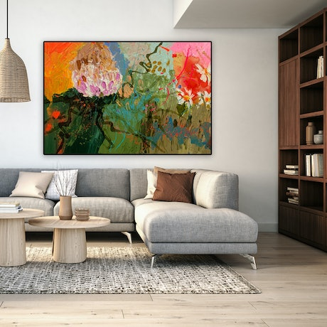 (CreativeWork) Daisy Chain by BAKER COLLECTION. Acrylic Paint. Shop online at Bluethumb.