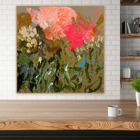(CreativeWork) Orange Tiger on belgian Linen by BAKER COLLECTION. Acrylic Paint. Shop online at Bluethumb.
