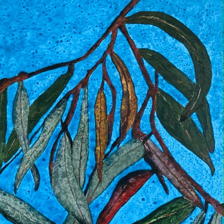 (CreativeWork) Whispering by Toni Southwell. Acrylic Paint. Shop online at Bluethumb.