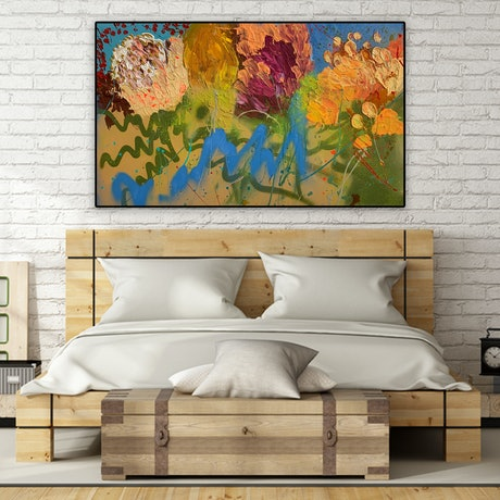 (CreativeWork) Monet by BAKER COLLECTION. Acrylic Paint. Shop online at Bluethumb.