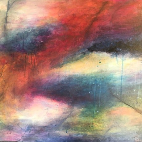 (CreativeWork) Tropical Storm by sue carter. Mixed Media. Shop online at Bluethumb.