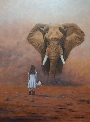 (CreativeWork) Hesitation by Kevin McKeown. Oil Paint. Shop online at Bluethumb.