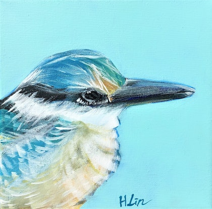 (CreativeWork) Family by Choice - Kingfisher - LIMITED EDITION GICLEE PRINT on stretched canvas - Ready To Hang   Ed. 1 of 100 by HSIN LIN. Print. Shop online at Bluethumb.