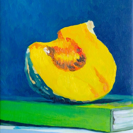 (CreativeWork) Pumpkin by Lydie Paton. Oil. Shop online at Bluethumb.
