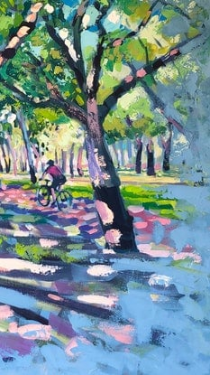 (CreativeWork) Morning Ride by Valentyna Crane. Acrylic Paint. Shop online at Bluethumb.