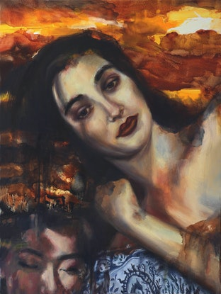 (CreativeWork) Repose by Kathryn Fenton. Oil Paint. Shop online at Bluethumb.