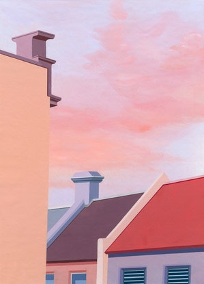 (CreativeWork) The view from the Courthouse Hotel, Newtown by Bianca Wilson. Acrylic Paint. Shop online at Bluethumb.