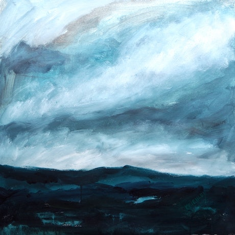 (CreativeWork) Passing Rain No.3 by Michelle Keighley. Acrylic Paint. Shop online at Bluethumb.