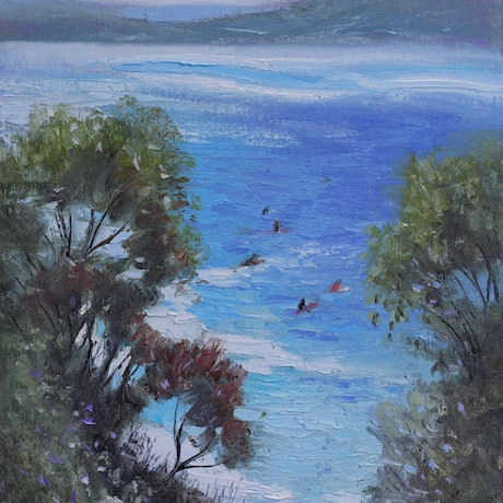 (CreativeWork) South Coast Blues by Michael Cartwright. Oil Paint. Shop online at Bluethumb.