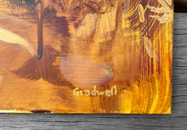 (CreativeWork) Extrapolation  by Kate Gradwell. Acrylic Paint. Shop online at Bluethumb.