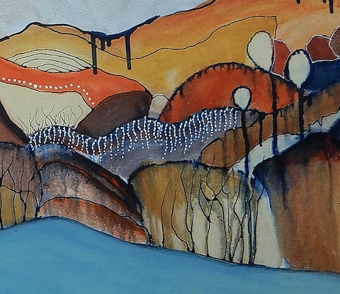 (CreativeWork) Kimberleys - Commission for Graham by Doodie Herman. Acrylic Paint. Shop online at Bluethumb.