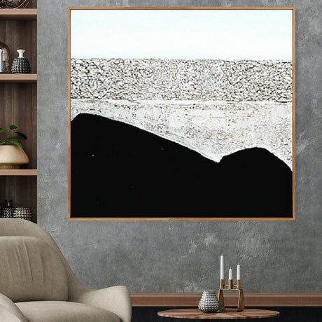 (CreativeWork) Moon Bay _Framed abstract textured aeascape art by Josephine Ann Pitsiava. Mixed Media. Shop online at Bluethumb.
