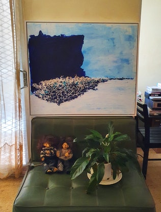 (CreativeWork) Diamond Bay by Einar Johansen. Mixed Media. Shop online at Bluethumb.