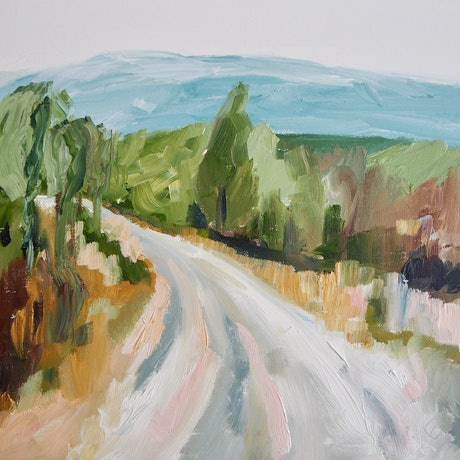 (CreativeWork) Heading Out  by Michelle Keighley. Oil Paint. Shop online at Bluethumb.