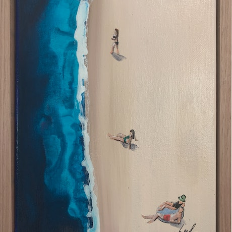 (CreativeWork) Beach day 2 by Leah Dodd. Mixed Media. Shop online at Bluethumb.