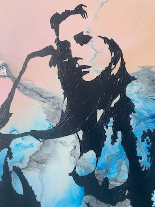 (CreativeWork) Another Way by Rachael Higby. Acrylic Paint. Shop online at Bluethumb.