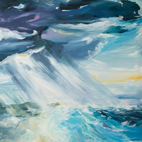 (CreativeWork) Storm Rolling In by Amber Gittins. Acrylic Paint. Shop online at Bluethumb.