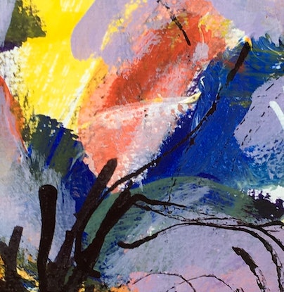 (CreativeWork) Chaos by Eva Miller. Acrylic Paint. Shop online at Bluethumb.