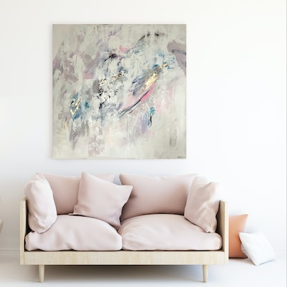(CreativeWork) Enfold by Michelle Drougas. Acrylic Paint. Shop online at Bluethumb.