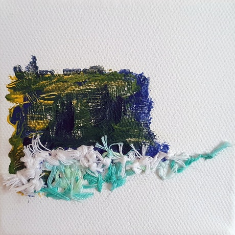 (CreativeWork) Diamond Bay Study: Greenish by Einar Johansen. Mixed Media. Shop online at Bluethumb.