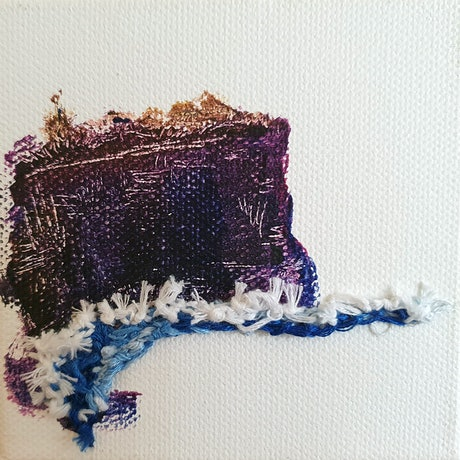 (CreativeWork) Diamond Bay Study: Purpley by Einar Johansen. Mixed Media. Shop online at Bluethumb.