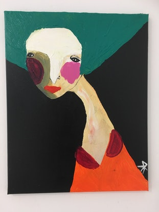 (CreativeWork) Verity Antoinette  by Kate Rogers. Acrylic Paint. Shop online at Bluethumb.