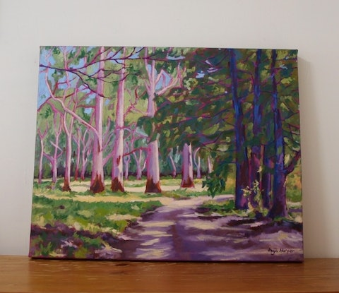 (CreativeWork) Forest  by Inga Harper. Oil. Shop online at Bluethumb.