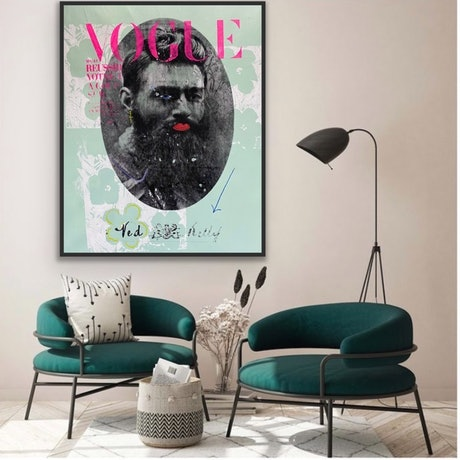 (CreativeWork) Ned Kelly Who's a Pretty Boy! by Shane Bowden. Mixed Media. Shop online at Bluethumb.