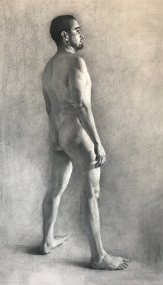(CreativeWork) Nude Study  by Colleen Stapleton. Drawings. Shop online at Bluethumb.
