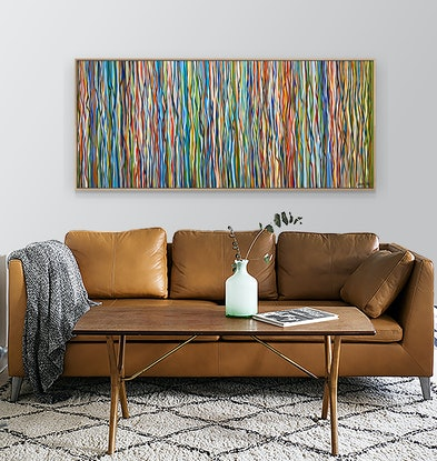(CreativeWork) Sixties Soul - 168 x 72cm - acrylic on canvas by George Hall. Acrylic Paint. Shop online at Bluethumb.