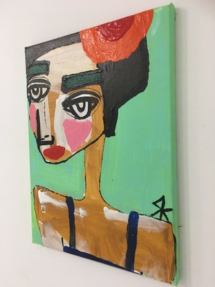 (CreativeWork) Loretta Sage by Kate Rogers. Acrylic Paint. Shop online at Bluethumb.