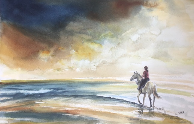 (CreativeWork) Face the storm by Wendy Joyce. Watercolour Paint. Shop online at Bluethumb.