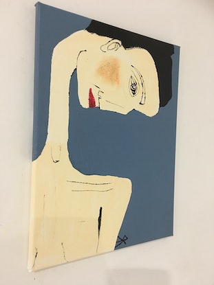 (CreativeWork) Annette by Kate Rogers. Acrylic Paint. Shop online at Bluethumb.