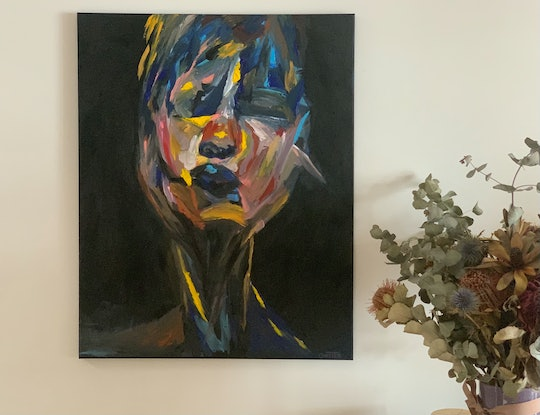 (CreativeWork) My Girl, Jessie by Ginsten .. Acrylic Paint. Shop online at Bluethumb.