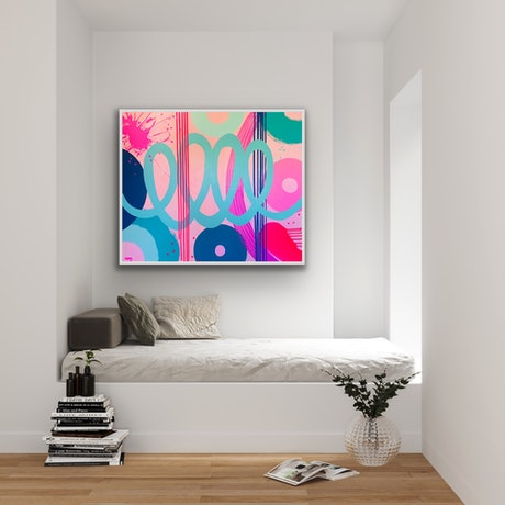 (CreativeWork) TURQUOISE WAVE by Poppy Key. Acrylic Paint. Shop online at Bluethumb.