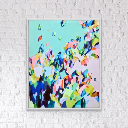 (CreativeWork) Let there Be Light (Unframed) by Sarah Lubcke. Mixed Media. Shop online at Bluethumb.