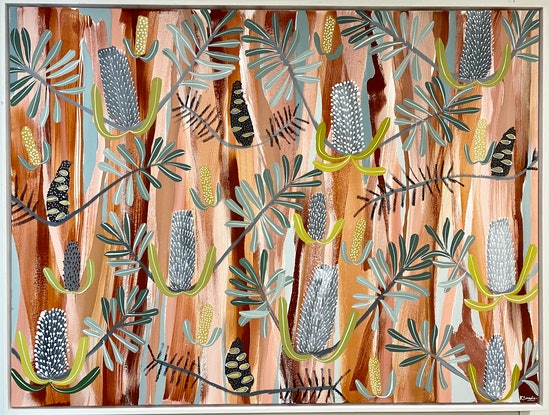 (CreativeWork) Desert Native #4 by Kate Soady. Acrylic. Shop online at Bluethumb.