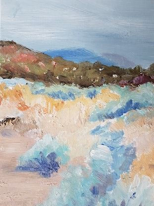 (CreativeWork) IMMINENT RAIN ON SALTBUSH by Suzy Strout. Oil Paint. Shop online at Bluethumb.