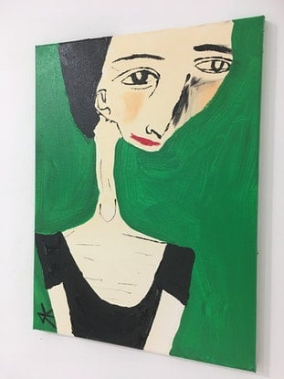 (CreativeWork) Jo Hester by Kate Rogers. Acrylic Paint. Shop online at Bluethumb.