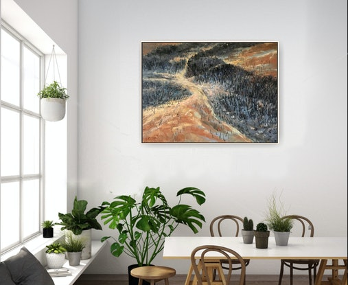 (CreativeWork) Our land No2 by Fangmin Wu. Oil Paint. Shop online at Bluethumb.
