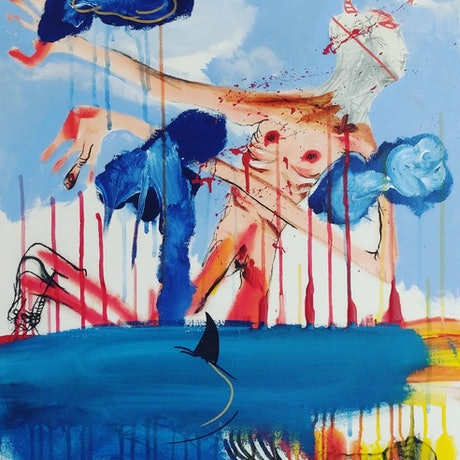 (CreativeWork) Unfortunately NO sharkman #2 by STEPHEN Homewood. Mixed Media. Shop online at Bluethumb.