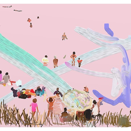 (CreativeWork) Summer Vibes A2 - Scribble Beach Series  Ed. 5 of 25 by Pip Phelps. Print. Shop online at Bluethumb.