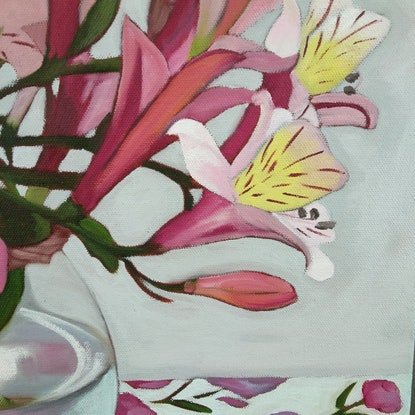 (CreativeWork) No time for beige by Sandra Jenkins. Oil Paint. Shop online at Bluethumb.
