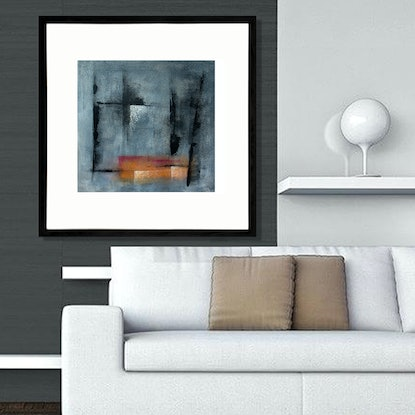 (CreativeWork) THE PENSIONE -  Framed 53x53cm by Geoff Birrell. Mixed Media. Shop online at Bluethumb.