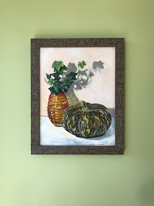 (CreativeWork) Autumn Still Life by Catherine Stait-Gardner. Acrylic Paint. Shop online at Bluethumb.