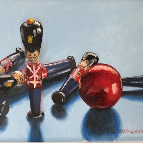 (CreativeWork) Toy Soldiers by Catherine Stait-Gardner. Oil Paint. Shop online at Bluethumb.