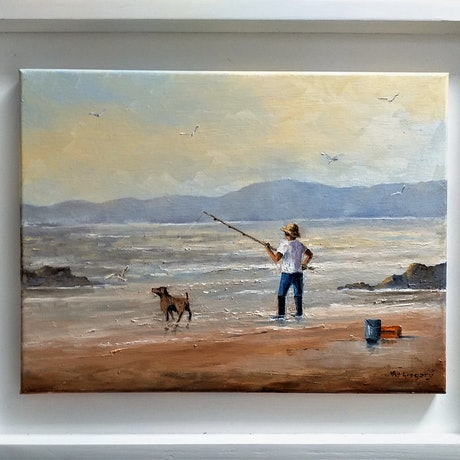 (CreativeWork) Perfect Day by Viv Gregory. Oil Paint. Shop online at Bluethumb.