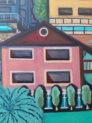 (CreativeWork) Why don't we pool our resources? by Penny Ross. Acrylic Paint. Shop online at Bluethumb.