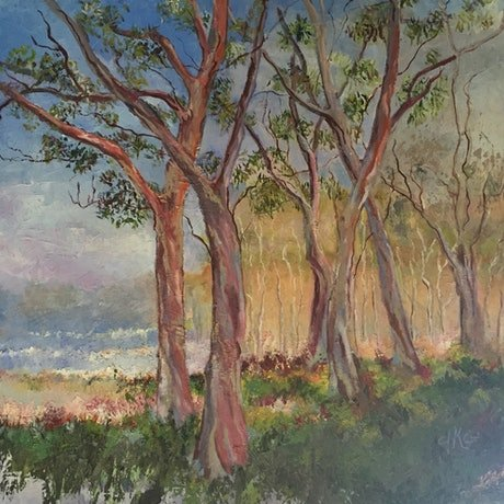 (CreativeWork) THE SONG OF THE TREES. by Chantal Kwast-Greff. Oil. Shop online at Bluethumb.