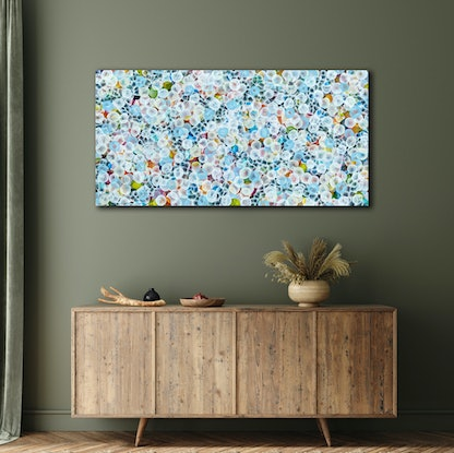 (CreativeWork) Bio Bloom Reef Flourish II – Large Original Abstract Painting by Jacquelyn Stephens. Acrylic Paint. Shop online at Bluethumb.